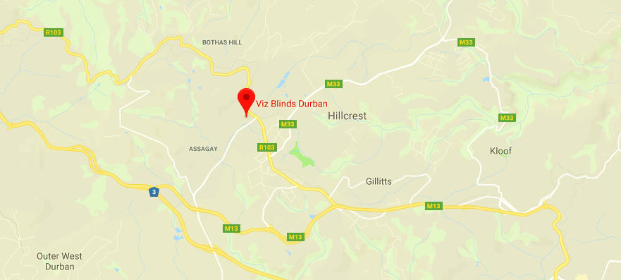 Location Pin for Viz Blinds Hillcrest